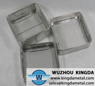 Hospital perforated disinfection basket
