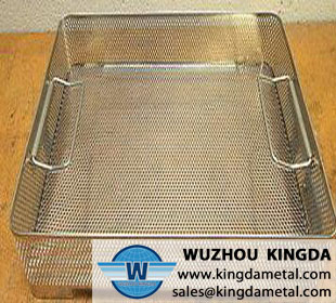 Hospital perforated sterilization basket