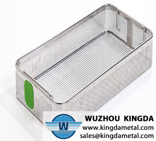 Hospital wire mesh antisepsis tray