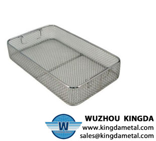 Industrial stainless steel sterilization basket