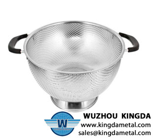 Kitchen metal perforated basket