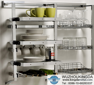 Kitchen wire metal storage shelving