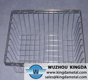 Laboratory metal wire basket