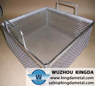 Laboratory sterilization basket