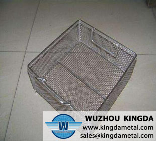 Laboratory sterilizing basket