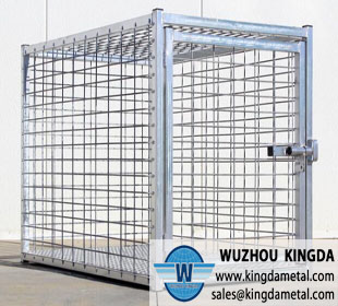 Large stainless dog cage