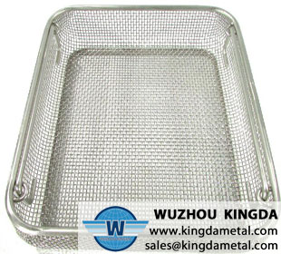 Medical stainless steel cleaning basket