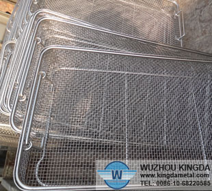 Medical stainless steel disinfecting basket