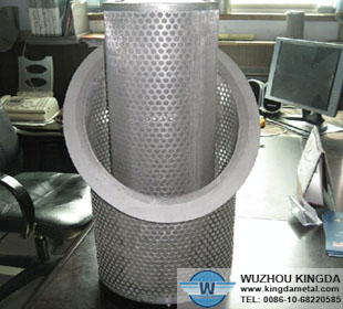 Metal filter basket