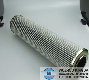 Metal hydraulic filter element