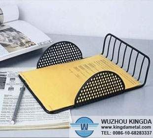 Metal mesh desk letter tray