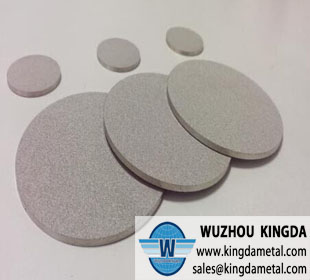 Micron sintered filter disc