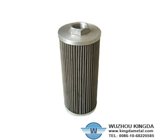 Oil pleated filter cartridge