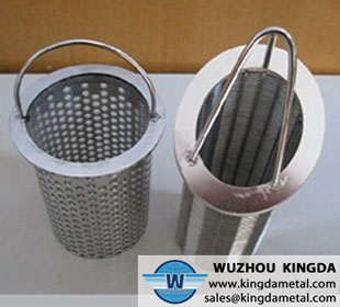 Perforated stainless filter baskets
