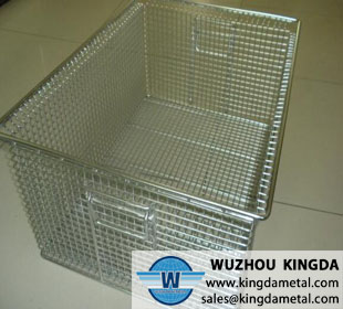 Stackable metal square basket