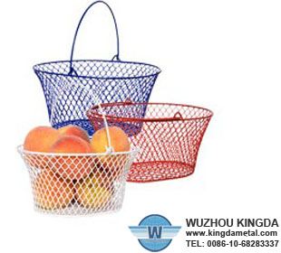 Stainless steel hanging fruit basket