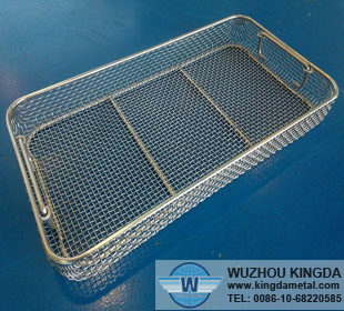 Stainless steel hospital cleaning basket