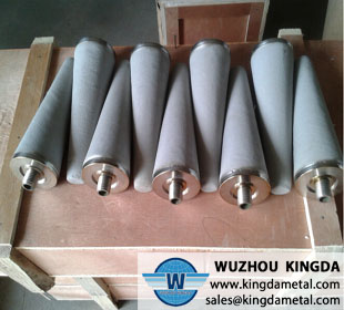 Stainless steel sintered cone shaped filter