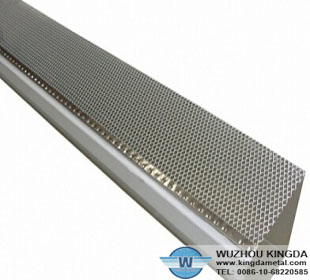 Aluminum mesh gutter guards