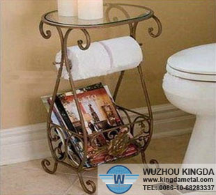 Book rack in bathroom