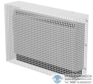 Electric heater mesh guard