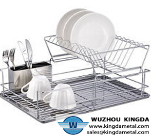 Metal kitchen <a href='http://www.kingdametal.com' target='_blank' class='fontb'>dish drainer</a>