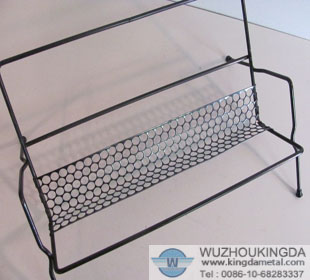 Metal wire mesh book rack