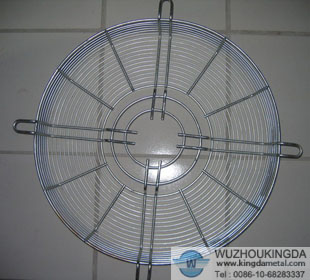 Metal wire mesh fan guard