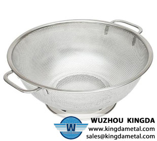 Perforated kitchen ware baskets
