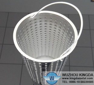 Perforated steel cartridge filter