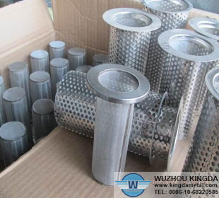 Stainless cartridge filter element