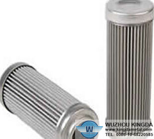 stainless steel sintered cylindrical filter element