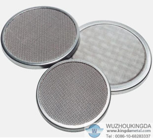Stainless wire mesh filter disc