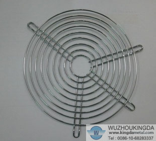 Wire fan finger guard