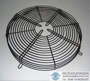 Wire mesh fan finger guard