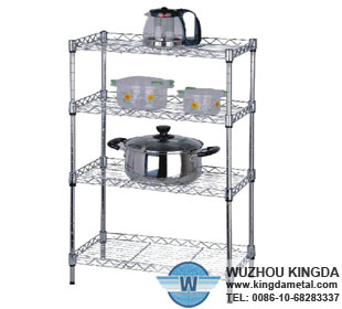 Wire mesh stainless steel shelves